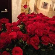 Поляна цветов от друзей из компании